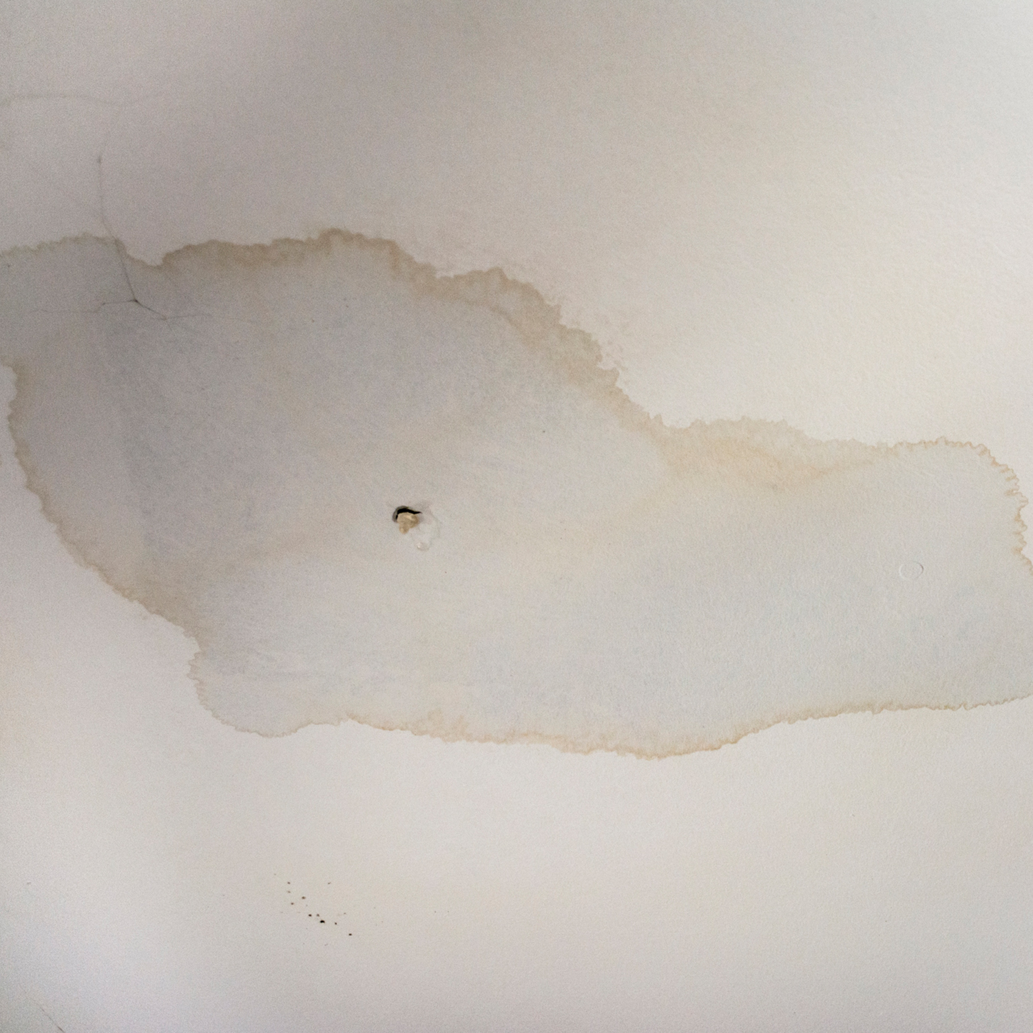 roofing leak and stain